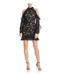 Parker - Black Skyler Cold-shoulder Lace Dress - Lyst