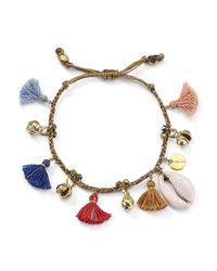 Chan Luu - Multicolor Tassel & Shell Bracelet - Lyst