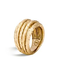 John Hardy - Metallic 18k Yellow Gold Classic Chain Five Row Ring - Lyst