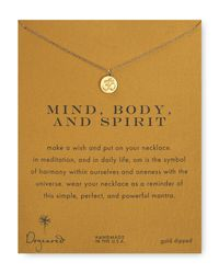 Dogeared | Metallic Body & Spirit Pendant Necklace | Lyst