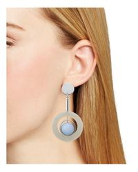 Aqua | Blue Matte Ball Earrings | Lyst