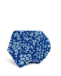 Bloomingdale's - Blue Ditsy Floral Skinny Tie for Men - Lyst