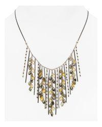 "Chan Luu - Metallic Chann Luu Beaded Fringe Collar Necklace, 15"" - Lyst"