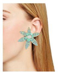 BaubleBar - Blue Starflower Drop Earrings - Lyst