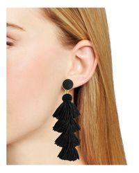 BaubleBar - Black Taylor Tassel Earrings - Lyst