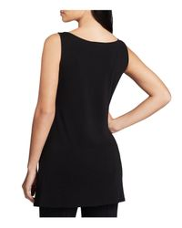 Eileen Fisher   Black System Scoop Neck Tunic   Lyst