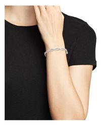 Roberto Coin - 18k White Gold Infinity Bangle - Lyst