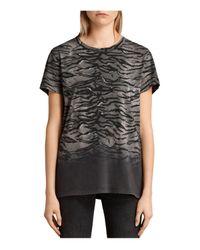 AllSaints | Black Tygr Joy T-shirt | Lyst