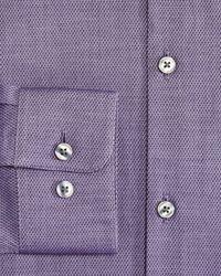John Varvatos - Purple Cross Twill Slim Fit Stretch Dress Shirt for Men - Lyst