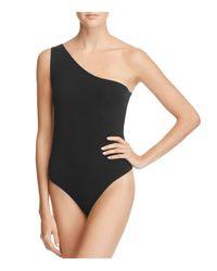 PAIGE - Black Janis Bodysuit - Lyst