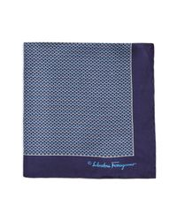 Ferragamo | Blue Gancini Arch Pocket Square for Men | Lyst