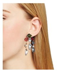 Atelier Swarovski - Metallic Mosaic Clip-on Earrings - Lyst