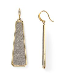 ABS By Allen Schwartz | Metallic Glitter Linear Earrings | Lyst