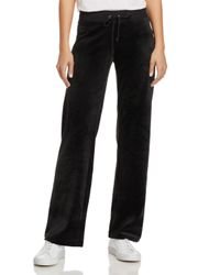Juicy Couture Black Mar Vista Luxe Velour Flared Pants