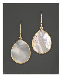 Ippolita   Metallic 18k Gold Polished Rock Candy Teardrop Earrings In Mother-of-pearl   Lyst