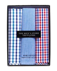 Bloomingdale's - Blue Assorted Cotton Pocket Square for Men - Lyst