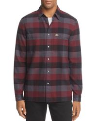 Lacoste - Multicolor Long Sleeve Spread With 2 Pocket L Blurred Check for Men - Lyst