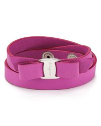 Ferragamo - Pink Vara Double Wrap Bracelet - Lyst