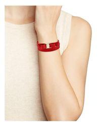 Ferragamo - Red Vara Double Wrap Bracelet - Lyst