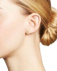 Adina Reyter - Metallic 14k Yellow Gold Pavé Diamond Interlocking Loop Stud Earrings - Lyst