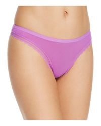 On Gossamer - Purple Next To Nothing Hip G Thong - Lyst