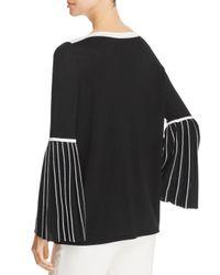 Elie Tahari - Black Simcha Pleated Bell Sleeve Sweater - Lyst
