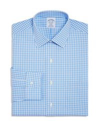 Brooks Brothers - Blue Gingham Check Regular Fit Dress Shirt for Men - Lyst