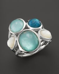 Ippolita - Metallic Sterling Silver Wonderland 5-stone Ring In Tahiti - Lyst