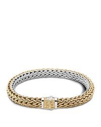 John Hardy | Metallic Classic Chain Gold And Silver Medium Reversible Bracelet | Lyst
