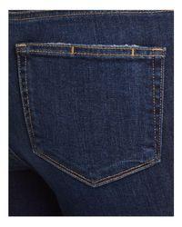 PAIGE - Blue Hoxton Skinny Crop Jeans In Emmett Destructed - Lyst