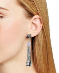 Aqua - Gray Metallic-finish Cluster Tassel Drop Earrings - Lyst