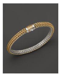 John Hardy | Metallic Classic Chain Gold & Silver Small Reversible Bracelet | Lyst