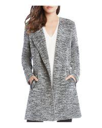 Karen Kane - Black Chevron Tweed Jacket - Lyst