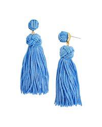 BaubleBar - Blue Bree Tassel Drop Earrings - Lyst