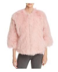 Maximilian Pink Fox Fur Coat