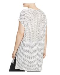 Eileen Fisher - White Line Print Tunic - Lyst