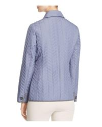 Basler Blue Chevron Quilted Jacket