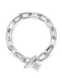Rebecca Minkoff - Metallic Sign Link Toggle Bracelet - Lyst