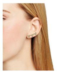 Rebecca Minkoff - Metallic Triangle Ear Climbers - Lyst