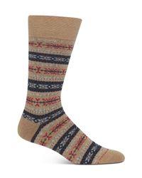 Polo Ralph Lauren - Brown Fairisle Crew Socks for Men - Lyst