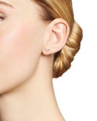 Dana Rebecca - Pink 14k Rose Gold Sylvie Rose Diamond V Stud Earrings - Lyst