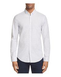 BOSS Green - White C Bilia Micro Dot Slim Fit Button-down Shirt for Men - Lyst