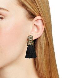 BaubleBar - Black Pisa Tassel Drop Earrings - Lyst