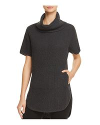 Ugg - Black Selby Turtleneck Poncho Top - Lyst