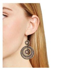 Miguel Ases - Metallic Beaded Earrings - Lyst