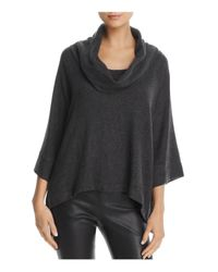 Three Dots - Gray Oversized Cowl Neck Sweater - Lyst