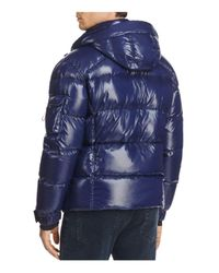 Sam. | Blue New Racer Hooded Puffer Coat for Men | Lyst