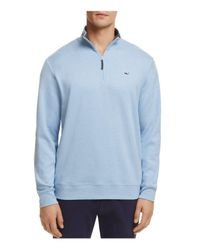 Vineyard Vines - Blue Quarter-zip Cotton Sweater for Men - Lyst
