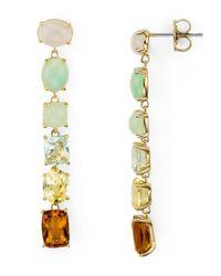 Nadri - Metallic Palma Linear Earrings - Lyst