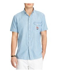 Polo Ralph Lauren - Blue Chambray Classic Fit Button-down Shirt for Men - Lyst